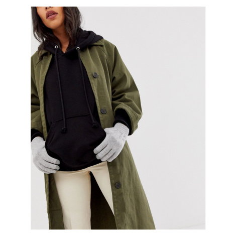 ASOS DESIGN touch screen gloves in recycled polyester in grey