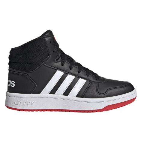 Adidas Hoops 2.0 Mid K Czarno-Białe (FY7009)