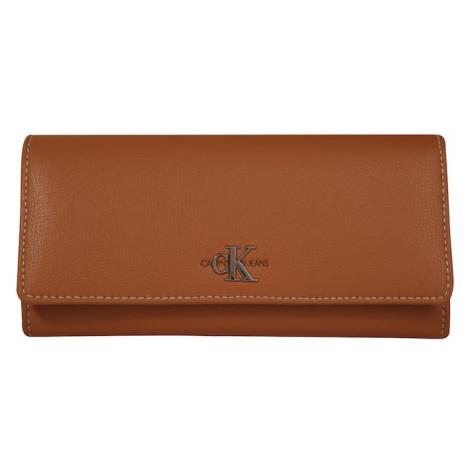 Calvin Klein Jeans Portmonetka 'MONO LONGFOLD' brązowy