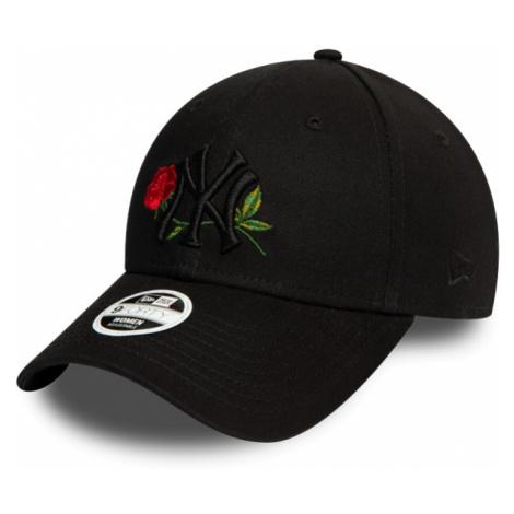 New Era 9FORTY MLBWMNS TWINE NEW YORK YANKEES czarny  - Klubowa czapka z daszkiem damska