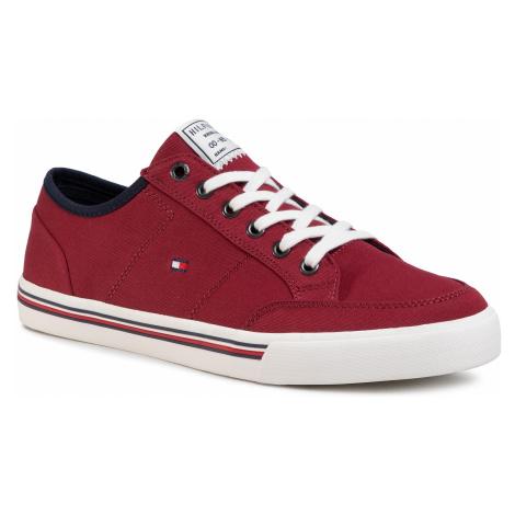Tenisówki TOMMY HILFIGER - Core Corporate Textile Sneaker Regatta Red XIT