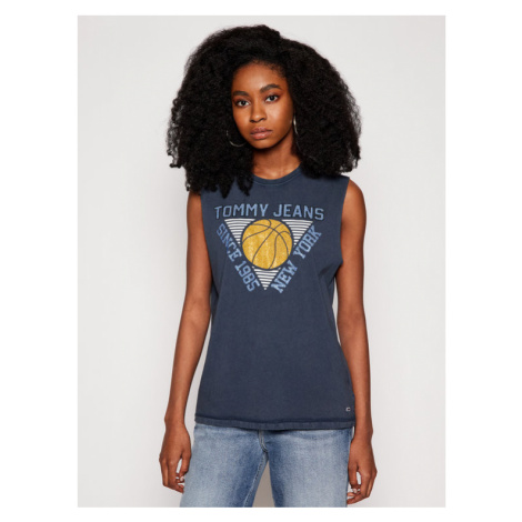 Tommy Jeans Bluzka Basketball DW0DW09821 Granatowy Relaxed Fit Tommy Hilfiger
