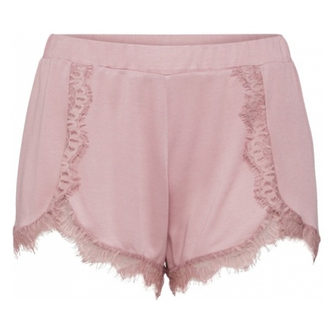 NA-KD Spodnie 'Overlapped Lace Detailed Shorts' różowy pudrowy