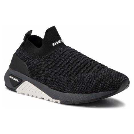 Sneakersy DIESEL - S-Kb Athl Sock Y01881 P2199 H3800 Black/Grey