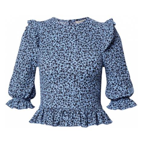 Miss Selfridge Koszulka 'DITSY' jasnoniebieski / czarny