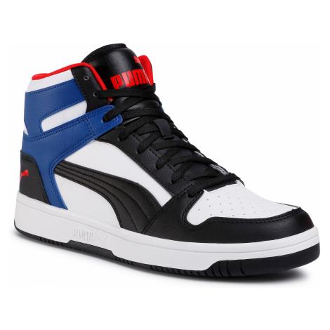 Sneakersy PUMA - Rebound LayUp Sl 369573 18 White/Puma Black/Limoges/Red