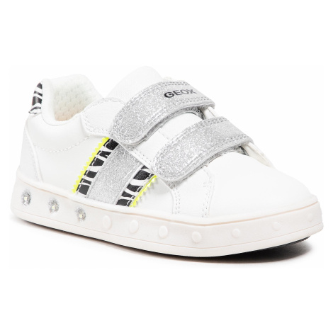 Sneakersy GEOX - J Skylin G. H J158WH 05404 C0552 M White/Fluo Yellow