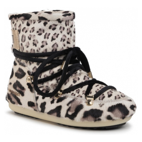 Moon Boot Śniegowce Dk Side Low Animal 24300600 Beżowy