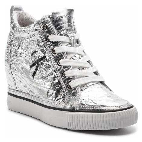 Sneakersy CALVIN KLEIN JEANS - Ritzy RE9850 Silver