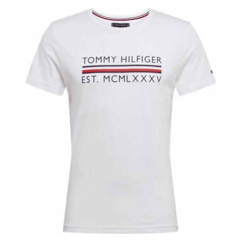 TOMMY HILFIGER Koszulka 'CORP BAR TEE' ciemny niebieski / biały / czerwony