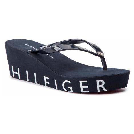 Japonki TOMMY HILFIGER - Hilfiger Wedge Beach Sandal FW0FW04057 Midnight 403
