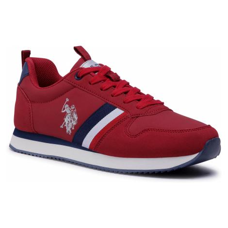 Sneakersy U.S. POLO ASSN. - Nobi1 Club NOBIL4243S0/YH1 Red