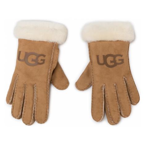 Rękawiczki Damskie UGG - W Sheepskin Logo Glove 18691 Chestnut