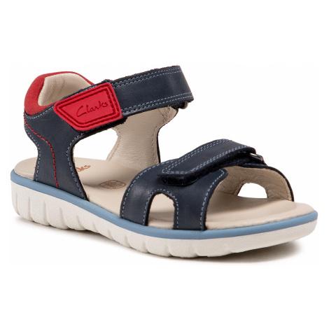 Sandały CLARKS - Roam Surf K 261580507 Navy Leather