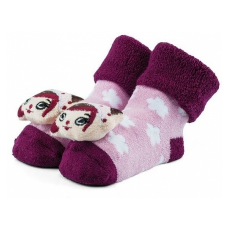 Attractive skarpetki dziewczęce z elfem różowy/fioletowy