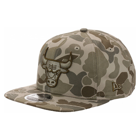 czapka z daszkiem New Era 9FI Original Fit Camo NBA Chicago Bulls - Stone Camo/Black