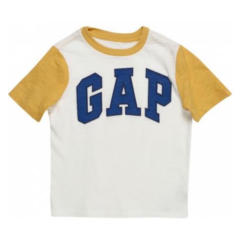 GAP Koszulka 'V-SPR GAP GR GO' żółty / biały