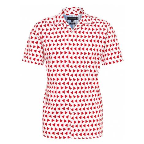 TOMMY HILFIGER Koszula 'BOLD GEO' czerwony / biały
