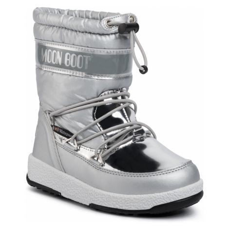 Śniegowce MOON BOOT - W.E. Jr Girl Soft Wp 34051700003 Silver