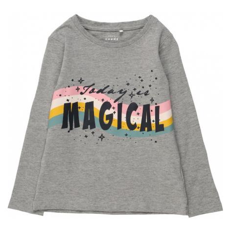 NAME IT Koszulka nakrapiany szary / czarny / różowy pudrowy / biały / pomarańczowy / jasnoniebie