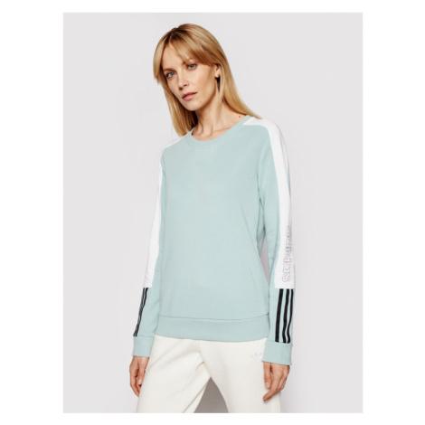 Adidas Bluza W Cb Lin Swt GL1443 Zielony Regular Fit