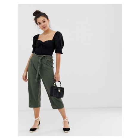 JDY paperbag waist linen culottes