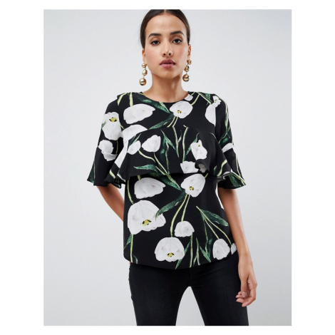 AX Paris leaf printed blouse
