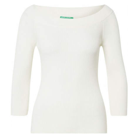 UNITED COLORS OF BENETTON Sweter offwhite