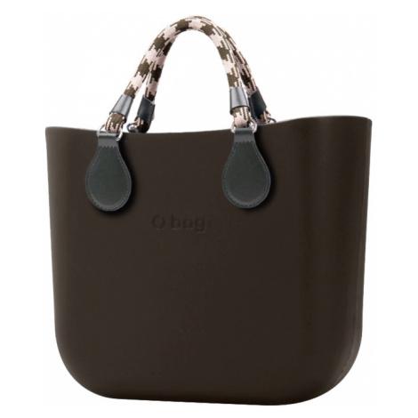O bag torebka MINI Testa di Moro z krótkimi uchwytami linowymi Verde Scuro