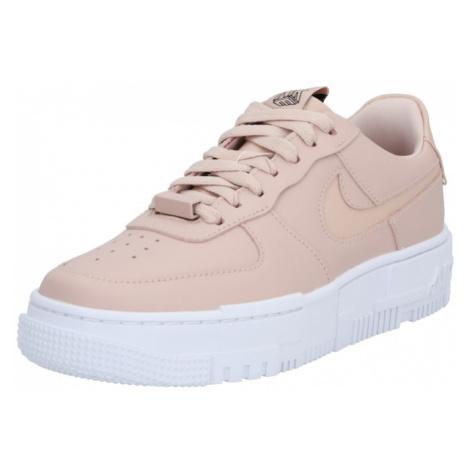 Nike Sportswear Trampki niskie 'Air Force 1 Pixel' różowy pudrowy / biały