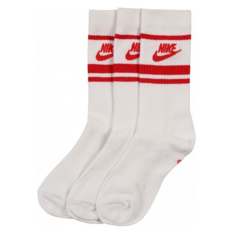 Nike Sportswear Skarpety 'Nike Sportswear Essential' czerwony / biały