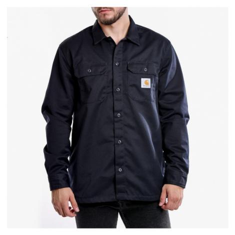 Koszula męska Carhartt WIP Master Shirt I022237 DARK NAVY RINSED
