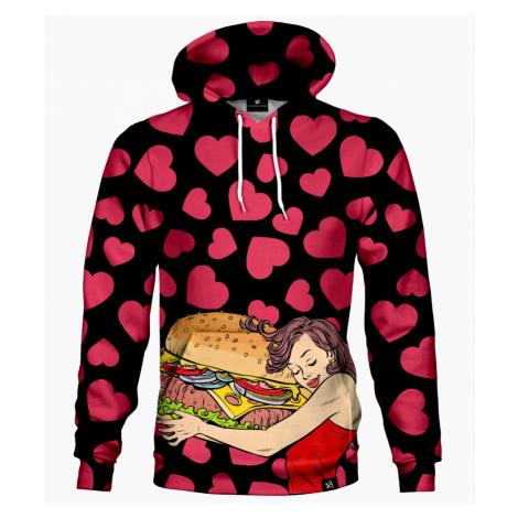 OUTLET Bluza z kapturem Burger Love M