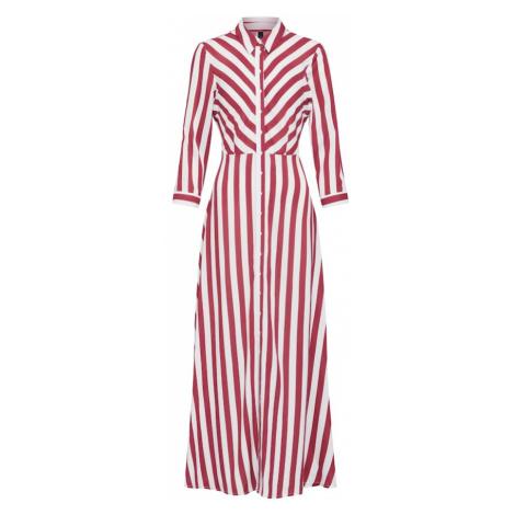 Y.A.S Sukienka koszulowa 'SAVANNA' czerwony / biały