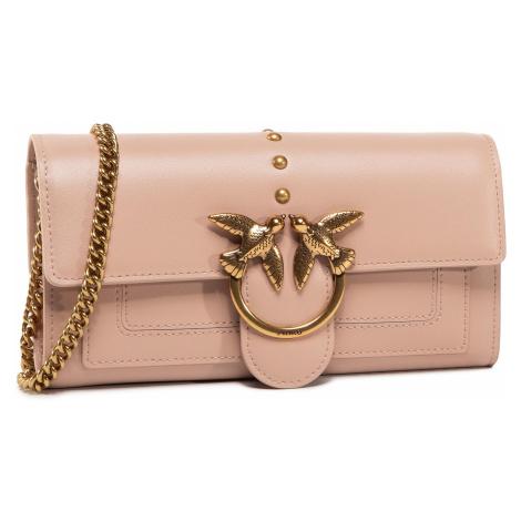 Torebka PINKO - Love Wallet Simply 2 C AI 20-21 PLTT 1P21SF Y6JC Light Pink Q19