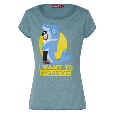 Derbe Koszulka 'Whale Love Girls ' żółty / benzyna