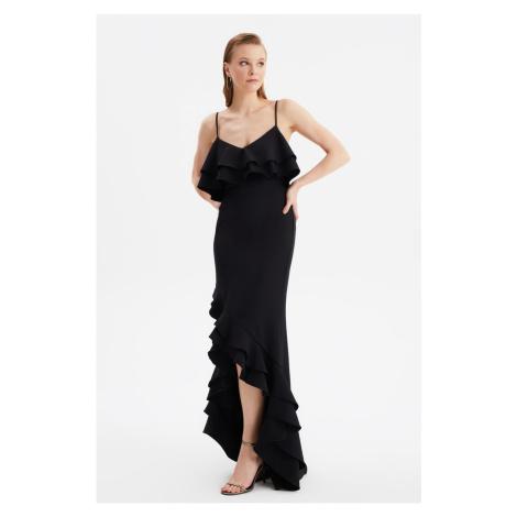Trendyol Black Flywheel Szczegółowe Suknia Wieczorowa & Suknia Ukończenia