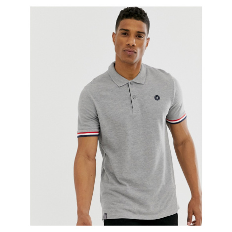 Jack & Jones Originals polo with taping in grey
