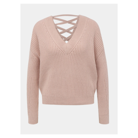 Jasnoróżowy sweter TALLY WEiJL