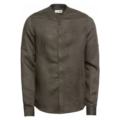 !Solid Koszula 'Shirt - Land Linnen Chinacol' oliwkowy