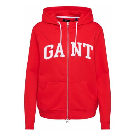GANT Bluza rozpinana 'ARCH LOGO' biały / czerwony