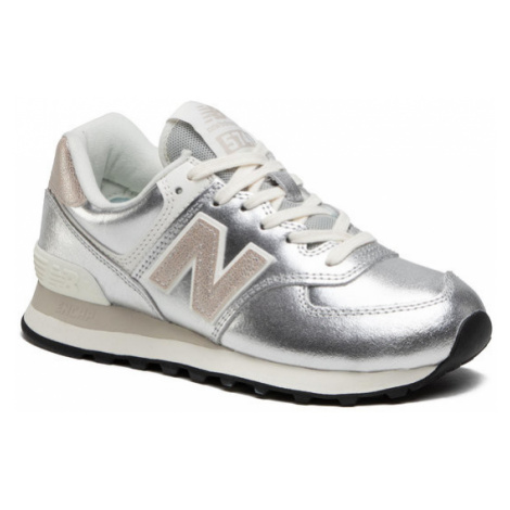 New Balance Sneakersy WL574PR2 Srebrny