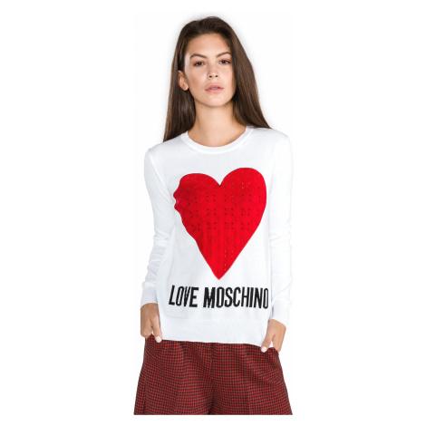 Love Moschino Sweter Biały