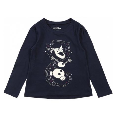 GAP Koszulka 'Frozen' ciemny niebieski / biały