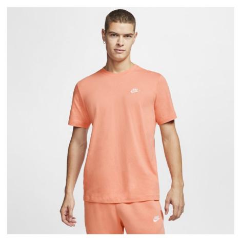 T-shirt męski Nike Sportswear Club - Pomarańczowy