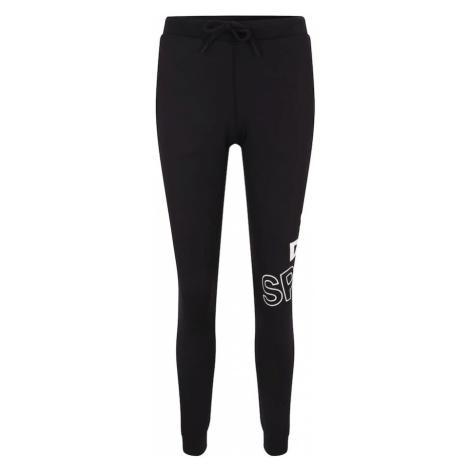Superdry Spodnie sportowe 'CORE GRAPHIC' czarny / biały