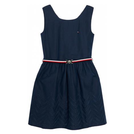 Tommy Hilfiger Sukienka elegancka Shiffley KG0KG05835 M Granatowy Regular Fit