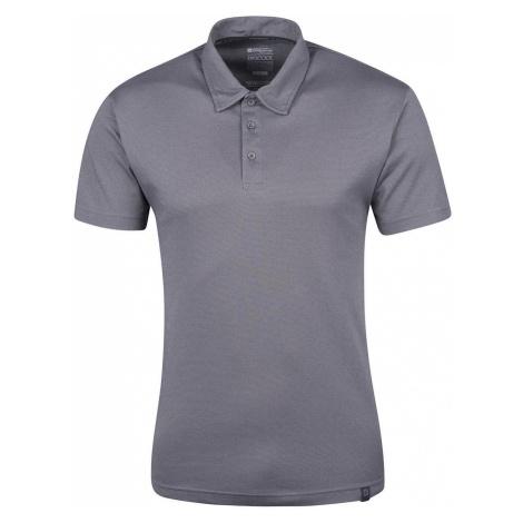 Quest – męska techniczna koszulka polo - Grey