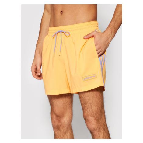 Adidas Szorty kąpielowe Swim HB1825 Pomarańczowy Regular Fit