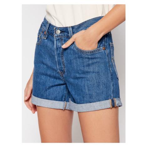Levi's® Szorty jeansowe 501® Flat Finish 29961-0021 Granatowy Regular Fit Levi´s